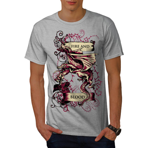 Fire & Blood Dragon Mens T-Shirt