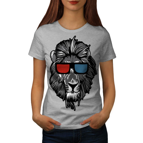 King Of Jungle Lion Womens T-Shirt