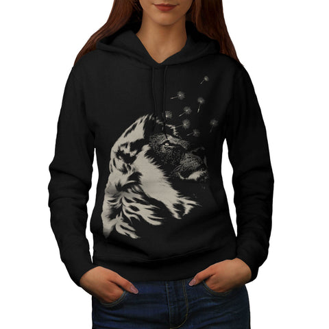Amazing Jungle Lion Womens Hoodie