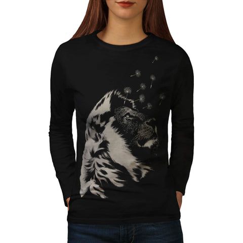 Amazing Jungle Lion Womens Long Sleeve T-Shirt