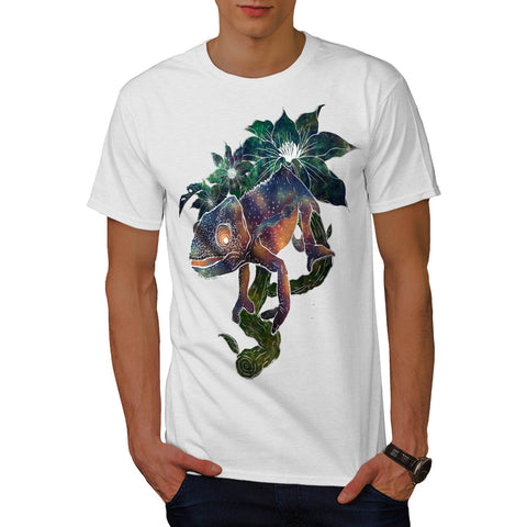 Chameleon Lizard Fun Mens T-Shirt