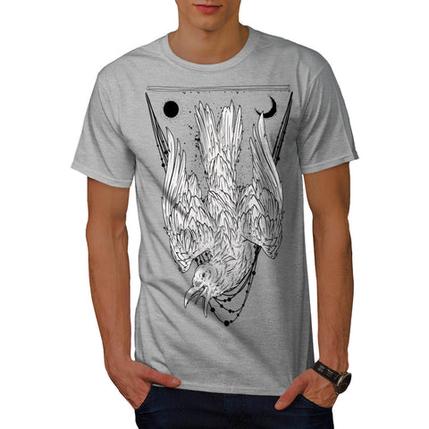 Crazy Crow Bird Life Mens T-Shirt
