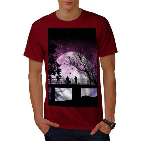 Amazing Moon Light Mens T-Shirt
