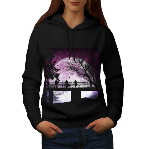 Amazing Moon Light Womens Hoodie