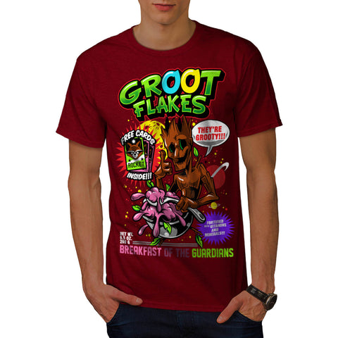 Groot Flakes Comic Mens T-Shirt