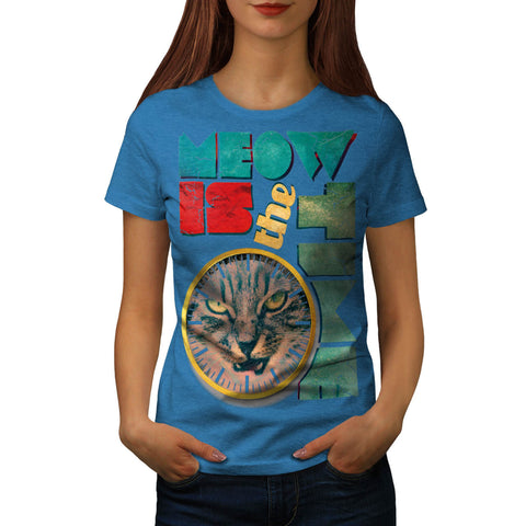 Meow Is The Time Cat Womens T-Shirt