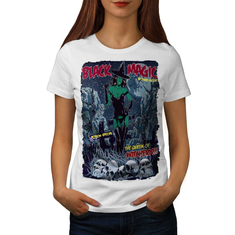 Black Magic Print Womens T-Shirt