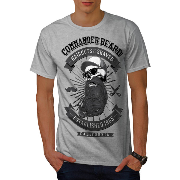 Commander Beard USA Mens T-Shirt
