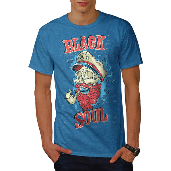 Black Soul Sailor Mens T-Shirt