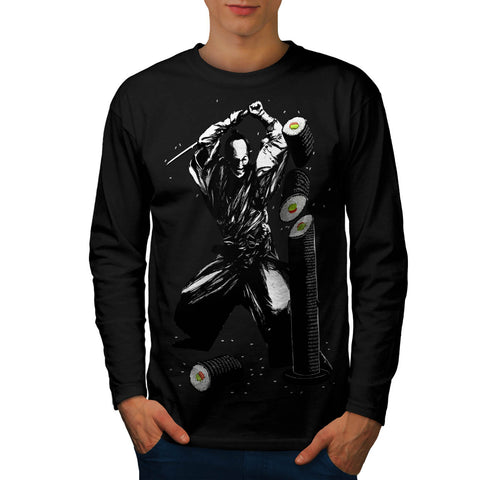 Sushi Samurai Fight Mens Long Sleeve T-Shirt