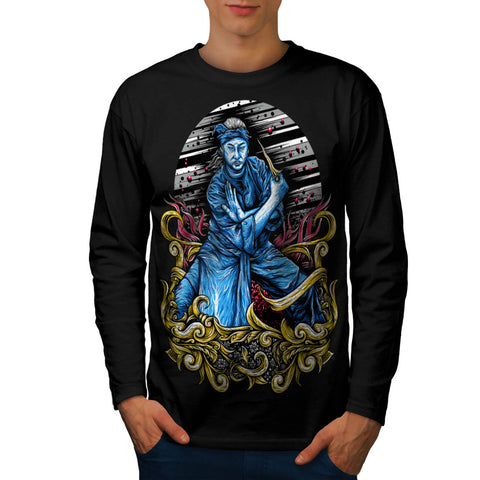Japanese Samurai Mens Long Sleeve T-Shirt