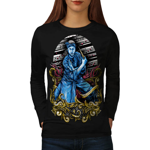 Japanese Samurai Womens Long Sleeve T-Shirt