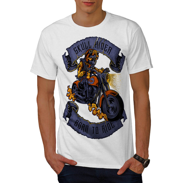 Born To Ride Skull Mens T-Shirt
