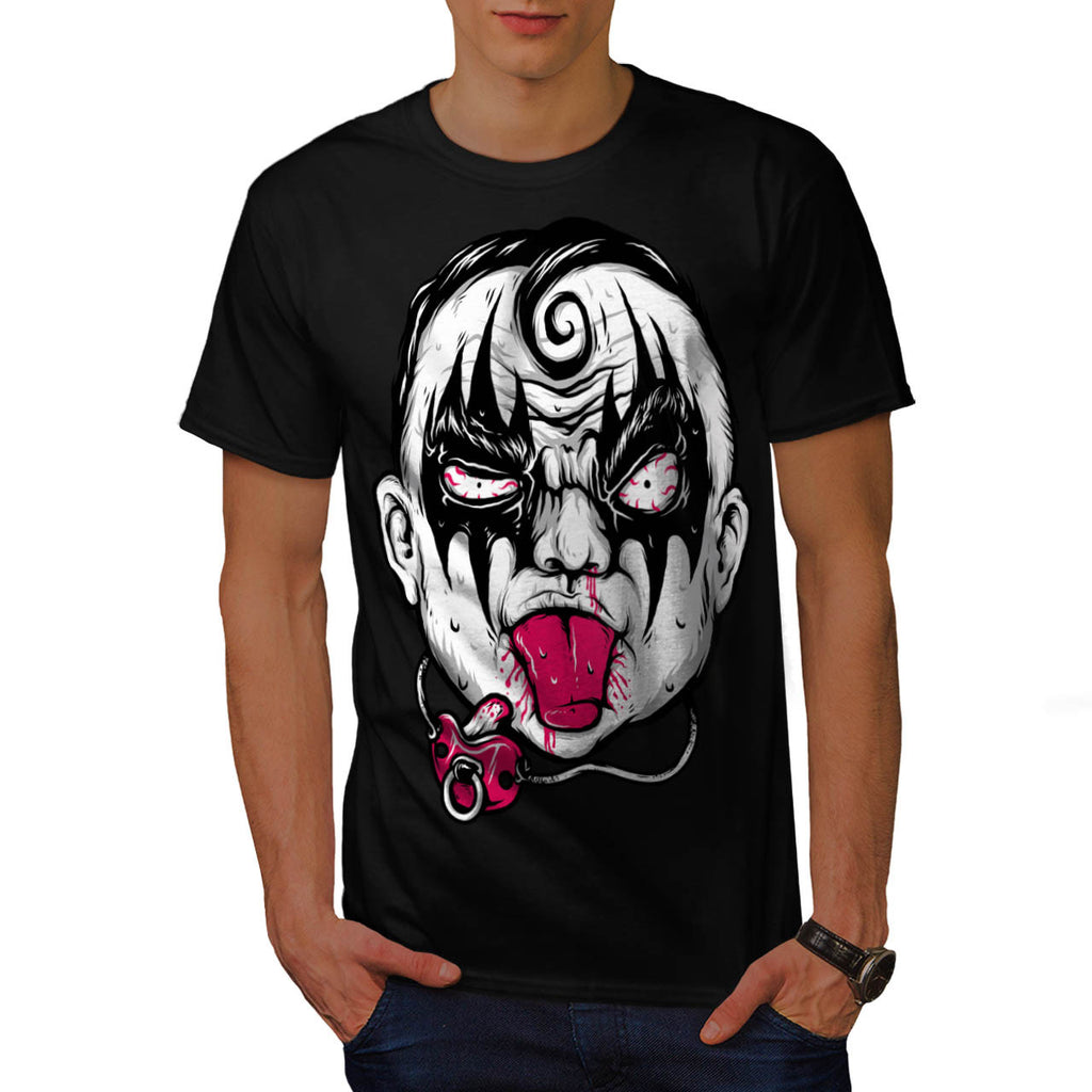 Devil Child Kid Face Mens T-Shirt