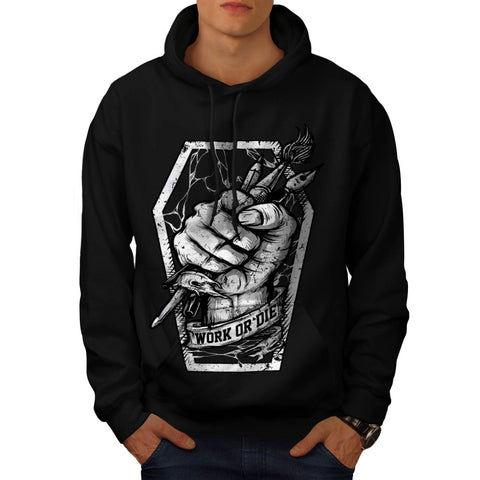 Work Or Die Painter Mens Hoodie