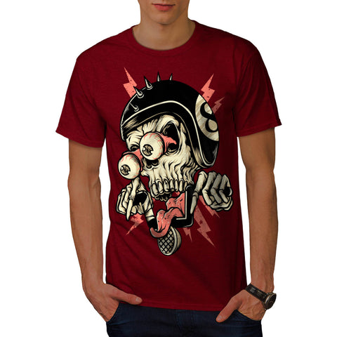 Crazy Skull Skater Mens T-Shirt
