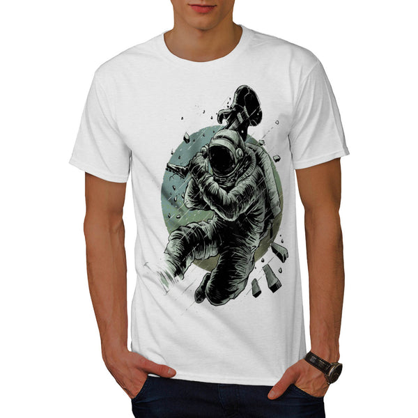 Astronaut Rocking Mens T-Shirt