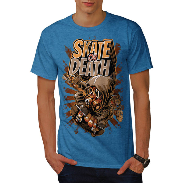 Skate Or Death Game Mens T-Shirt