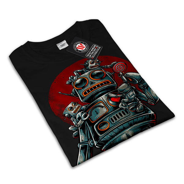 Crazy Robot Machine Mens T-Shirt