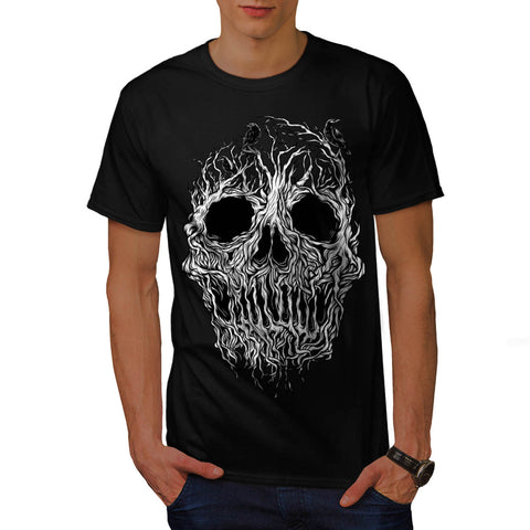 Tree Skull Horror Mens T-Shirt