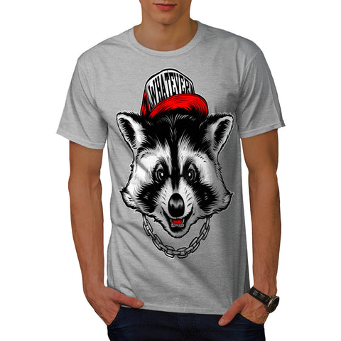 Whatever Raccoon Cap Mens T-Shirt