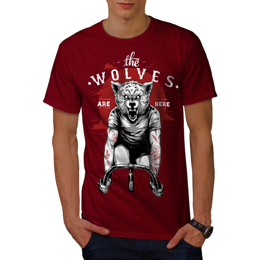 Wolves Are Here Bike Mens T-Shirt