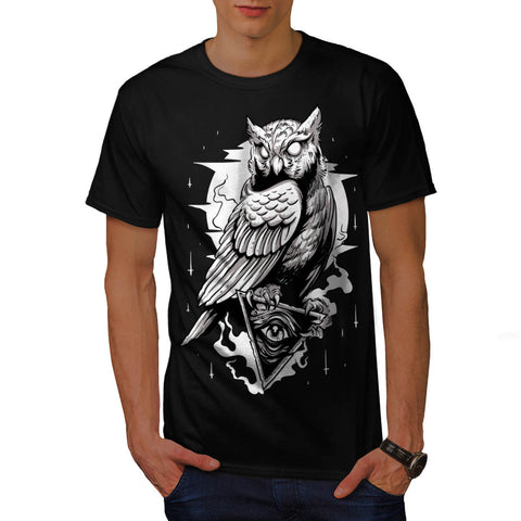 Illuminati Owl Bird Mens T-Shirt