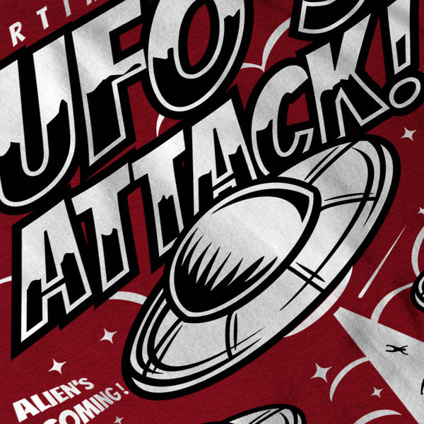 UFO Alien Attack Mens T-Shirt