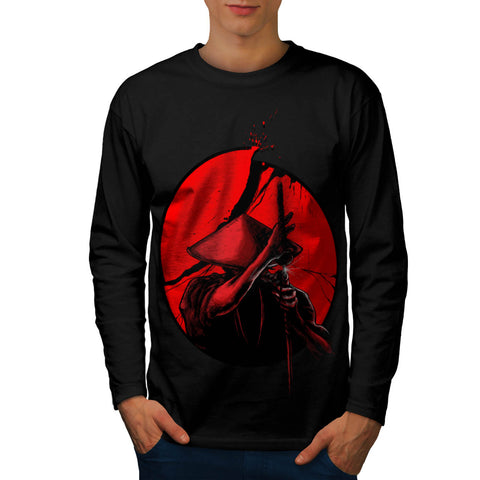 Japanese Warrior Mens Long Sleeve T-Shirt