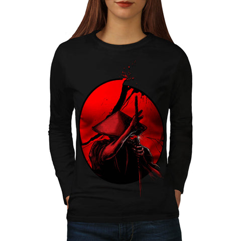 Japanese Warrior Womens Long Sleeve T-Shirt