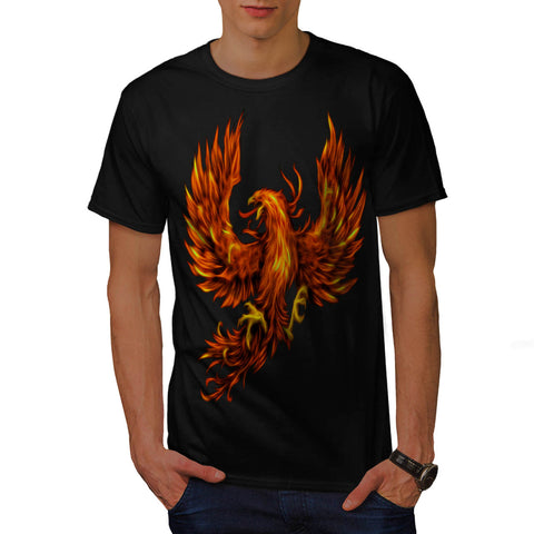 Fire Flaming Eagle Mens T-Shirt
