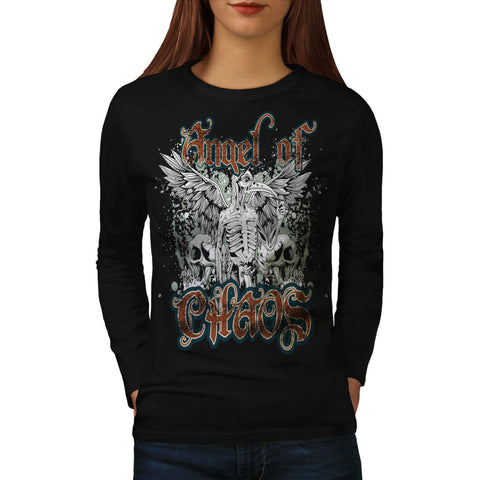 Angel Of Chaos Wings Womens Long Sleeve T-Shirt