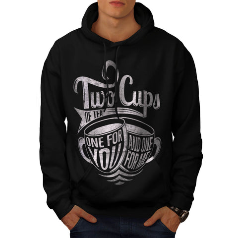 2 Cups of Tea Brew Mens Hoodie