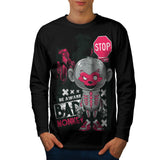 Evil Horror Monkey Ape Mens Long Sleeve T-Shirt
