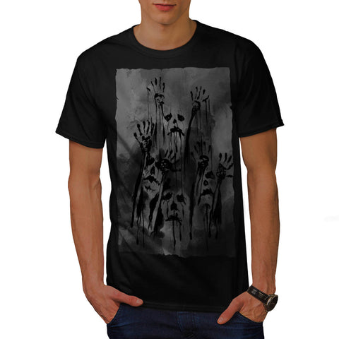 Ghost Freaky Zombie Mens T-Shirt