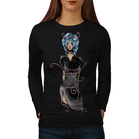 Anime Gothic Female Womens Long Sleeve T-Shirt