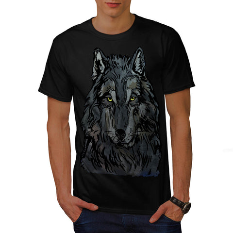 Majestic Wolf Head Mens T-Shirt