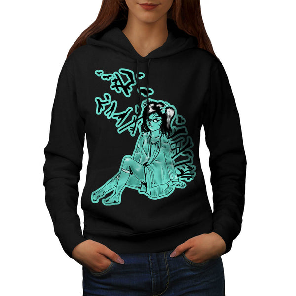 Little Japanese Girl Womens Hoodie