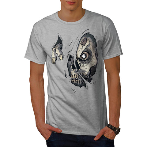 Scary Zombie Face Mens T-Shirt