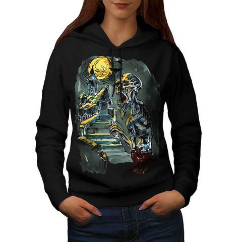 Zombie Horror Movie Womens Hoodie