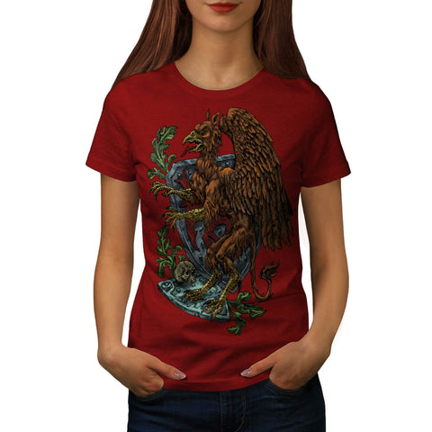Griffin Medieval Crest Womens T-Shirt