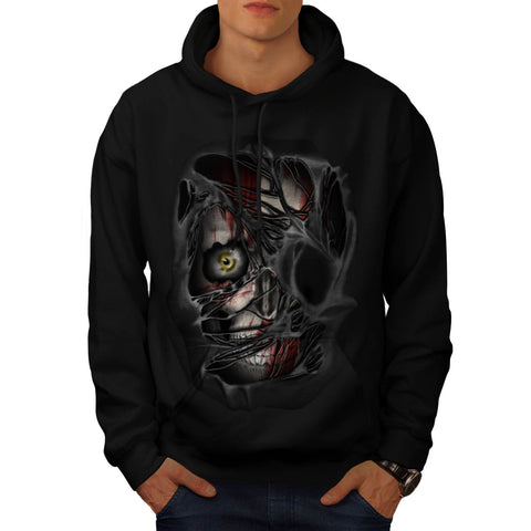 Scary Skull Shadow Mens Hoodie