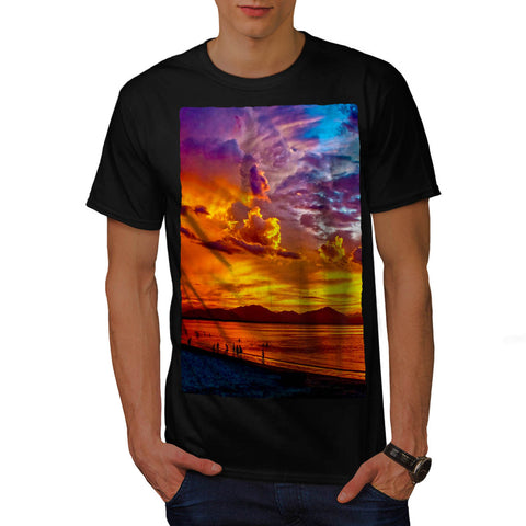 Colorful Ocean Sky Mens T-Shirt