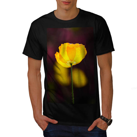 Yellow Flower View Mens T-Shirt