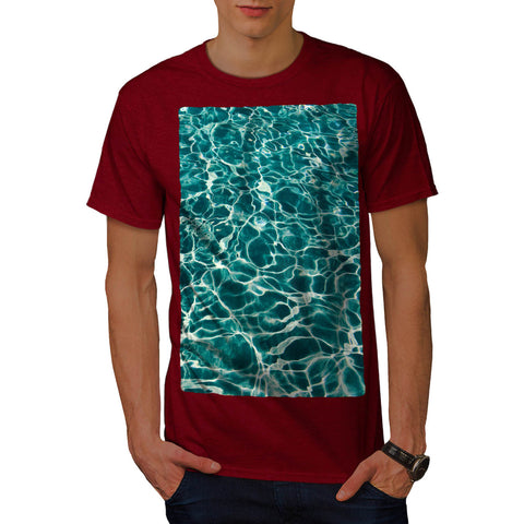 Blue Sea Water Mens T-Shirt