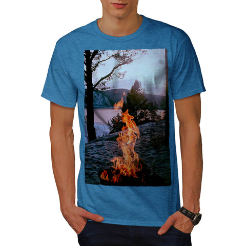 Burning Fire Place Mens T-Shirt