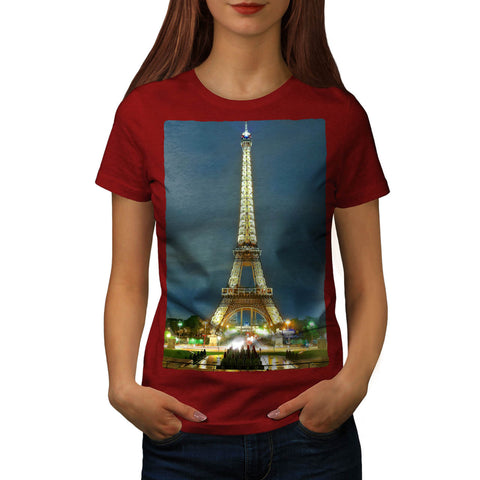 Paris Eiffel Tower Womens T-Shirt