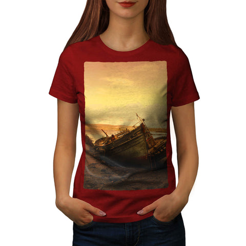 Old Classic Boat Womens T-Shirt