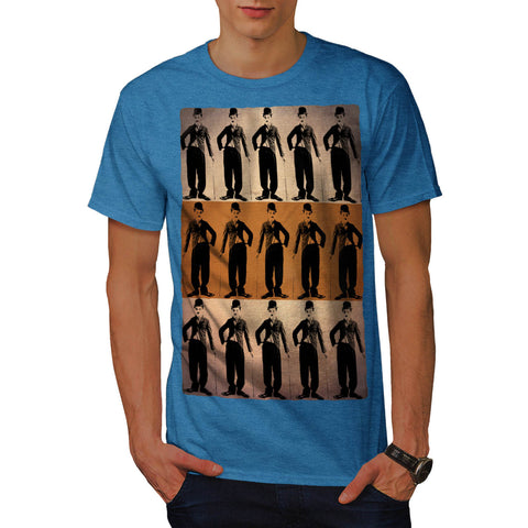 Charlie Chaplin Art Mens T-Shirt