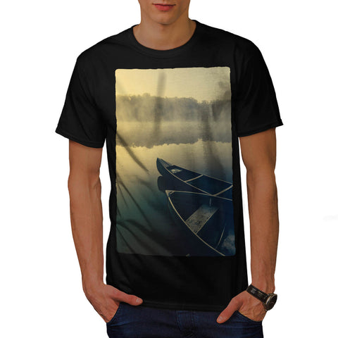 Lake Boat View Mens T-Shirt
